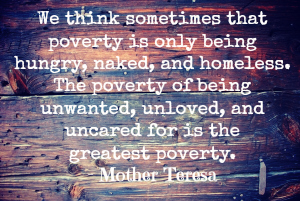 we think that poverty is only being hungry