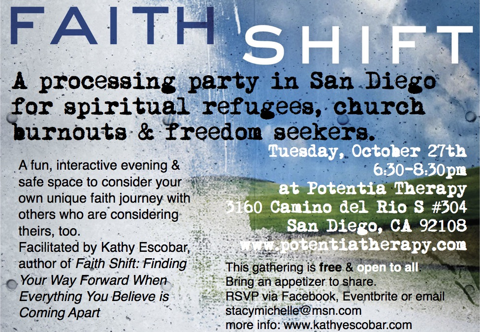 san diego faith shift processing party october 2015